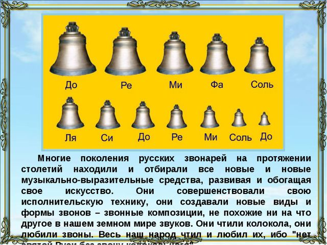 Многие поколения русских звонарей на протяжении столетий находили и отбирали...