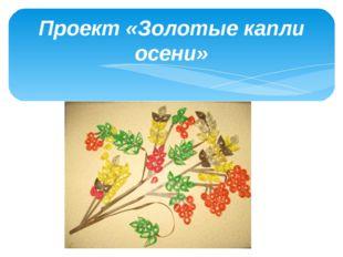 Проект «Золотые капли осени»