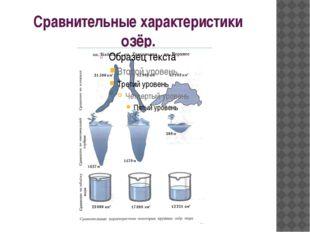 Сравнительные характеристики озёр.