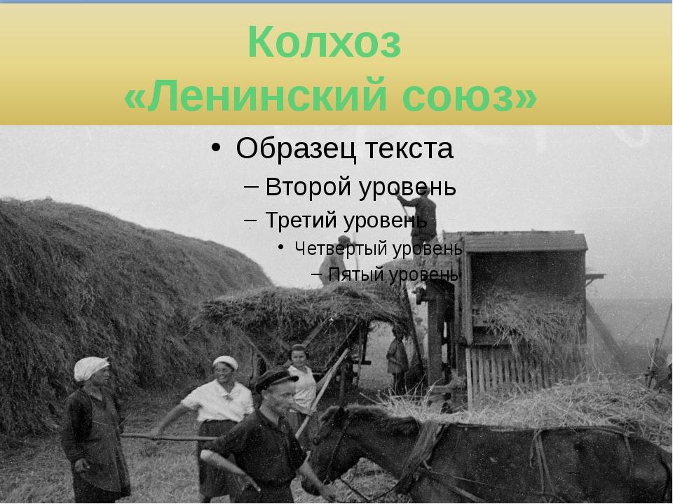 Колхоз «Ленинский союз»