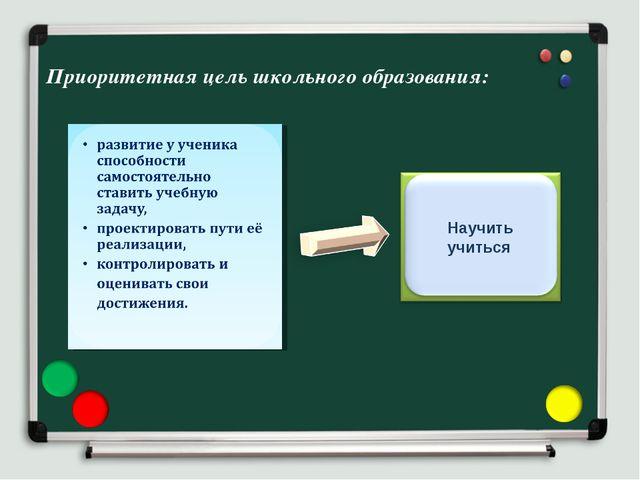 Приоритетная цель школьного образования: Научить учиться