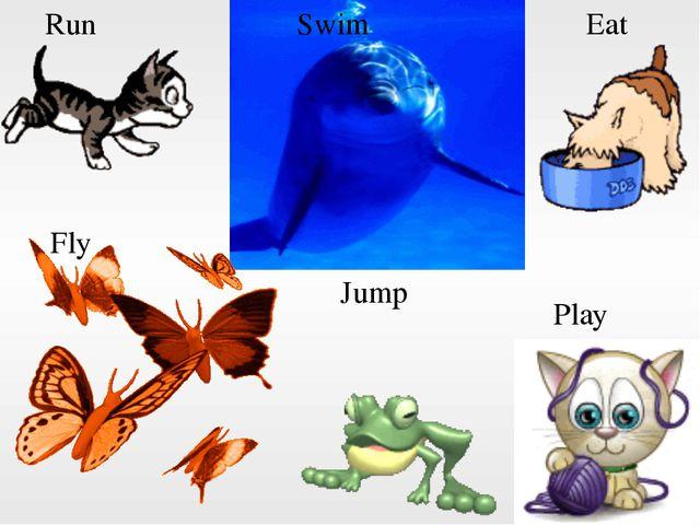 Run Swim Eat Jump Fly Play