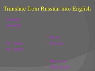 Translate from Russian into English эта кошка эти кошки Это кошка. Это кошки.
