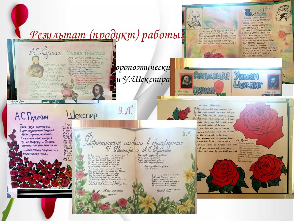 Результат (продукт) работы: Газеты по флоропоэтическим мотивам и символам А....