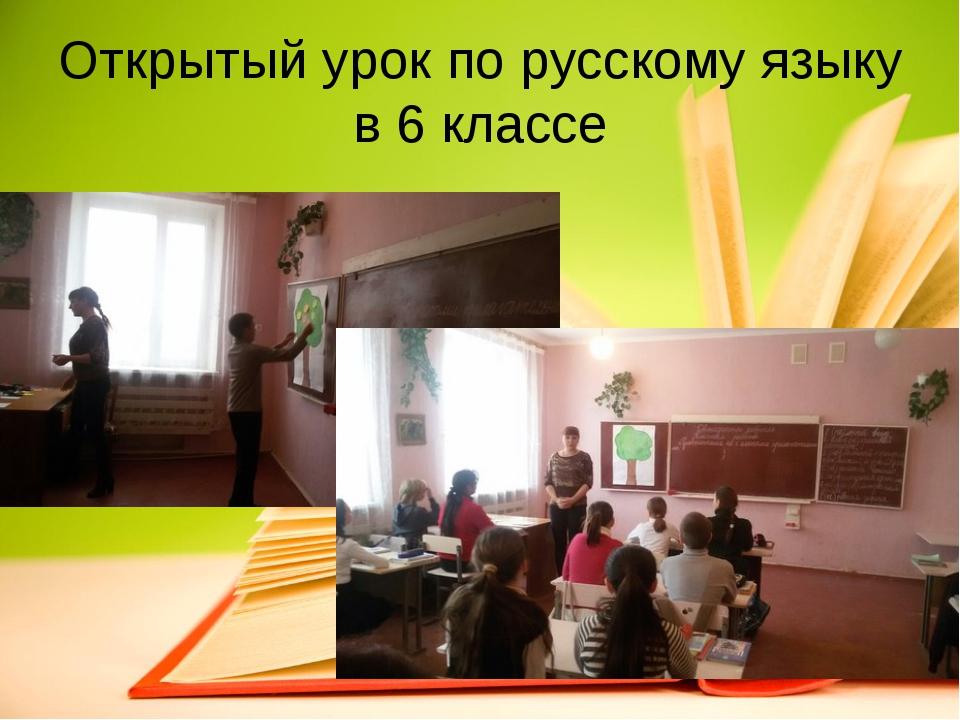 Открытый урок по русскому языку в 6 классе
