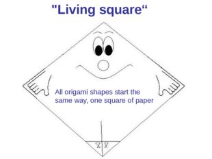 """Living square"" All origami shapes start the same way, one square of paper"