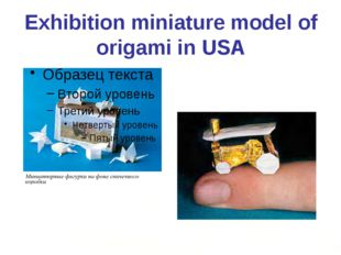Exhibition miniature model of origami in USA