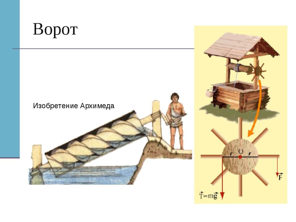 Ворот Изобретение Архимеда