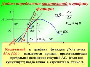 у = f(x) С ● В касательная Касательной к графику функции f(x) в точке А( х; f
