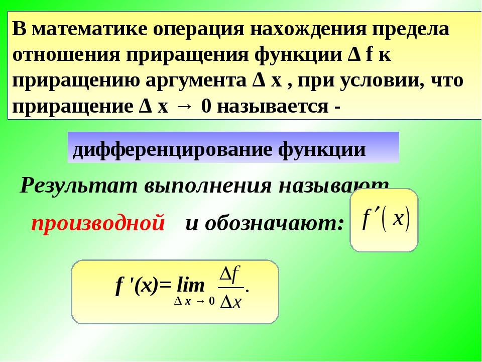 Предел отношения математика