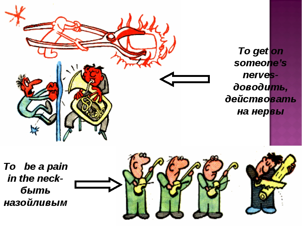 To be a pain in the neck-быть назойливым To get on someone's nerves-доводить,...