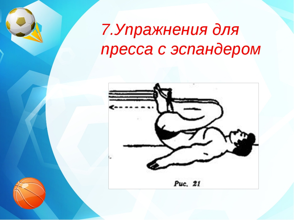 7.Упражнения для пресса с эспандером