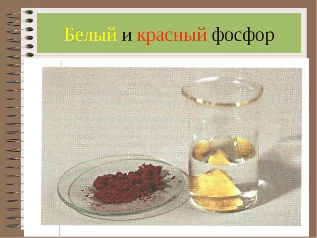 Белый и красный фосфор