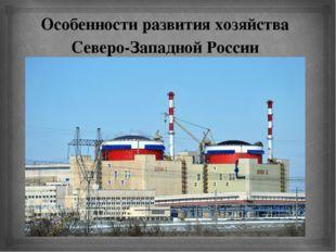 Особенности развития хозяйства Северо-Западной России 