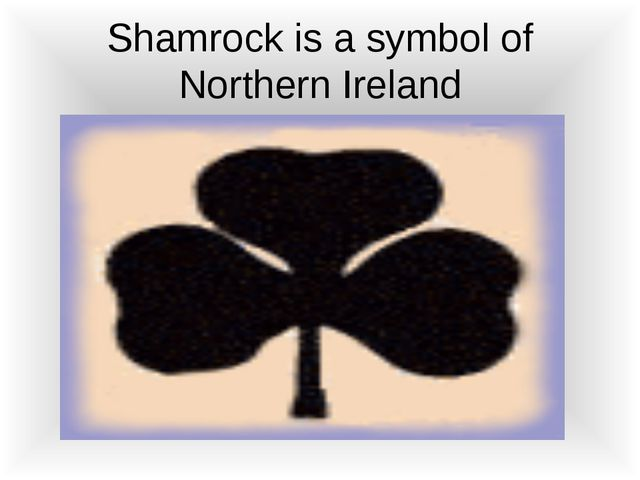 Shamrock is a symbol of Northern Ireland