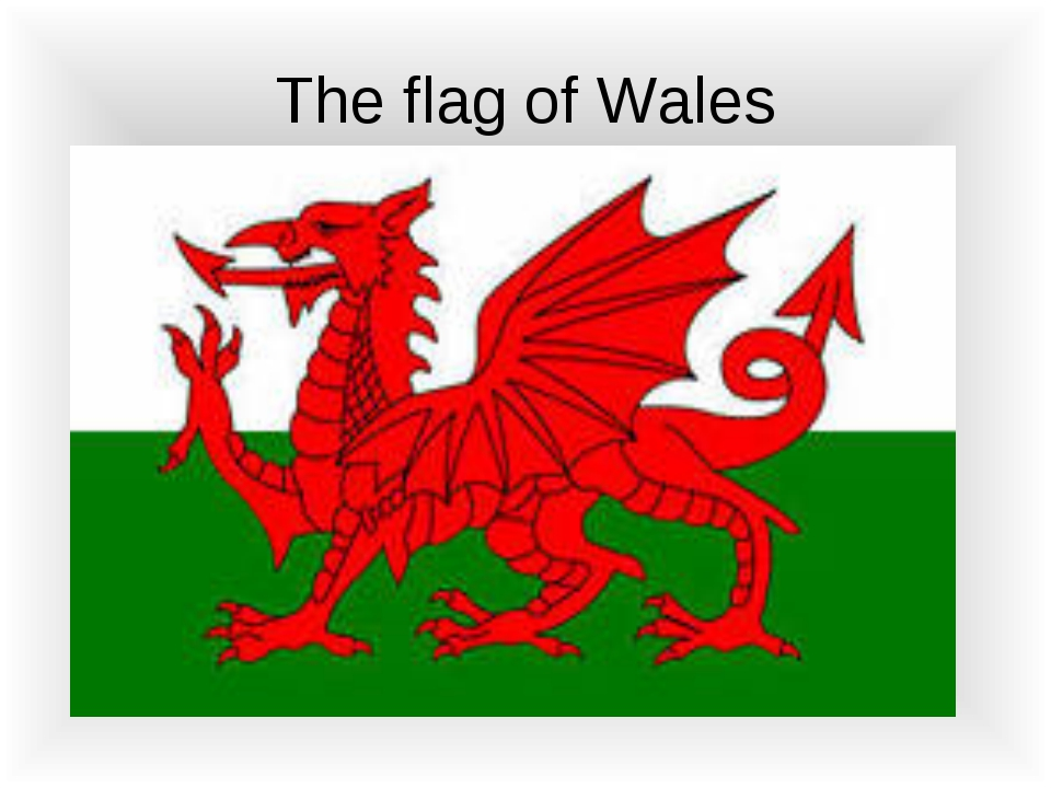The flag of Wales