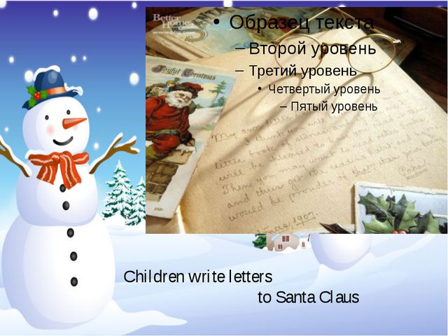 Children write letters to Santa Claus