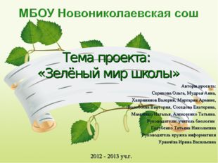 Авторы проекта: Серикова Ольга, Мудрая Анна, Хапрининов Валерий, Маргарян Арм