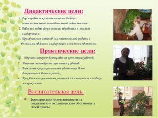 Дидактические цели: 1. Формирование компетентности в сфере самостоятельной по