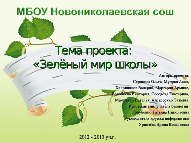 Авторы проекта: Серикова Ольга, Мудрая Анна, Хапрининов Валерий, Маргарян Арм...