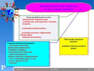 Виховна робота в класі спирається  на три головних напрямки: Безпосередній в