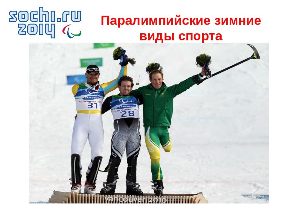 Паралимпийские зимние виды спорта