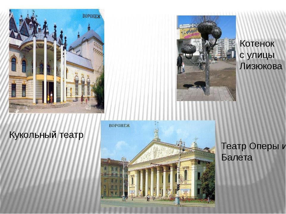 Кукольный театр Котенок с улицы Лизюкова Театр Оперы и Балета