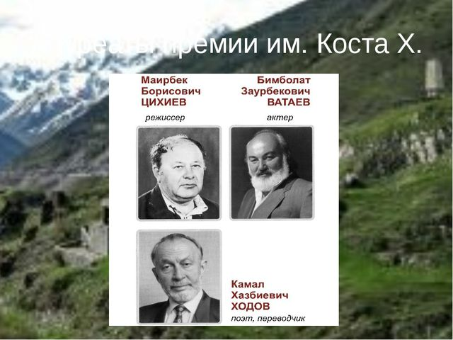 Лауреаты премии им. Коста Х.