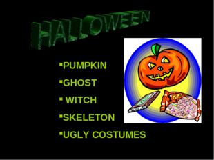 PUMPKIN GHOST WITCH SKELETON UGLY COSTUMES