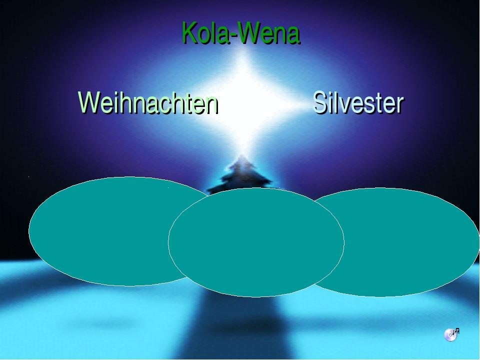 Kola-Wena Weihnachten Silvester