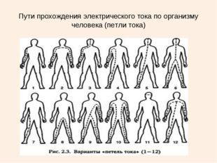 Пути прохождения электрического тока по организму человека (петли тока)