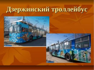Дзержинский троллейбус