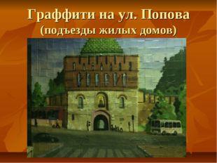 Граффити на ул. Попова (подъезды жилых домов)