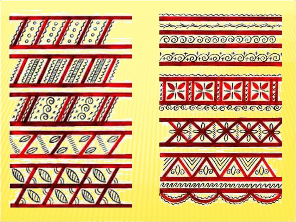 Элементы мезенской роспись картинки