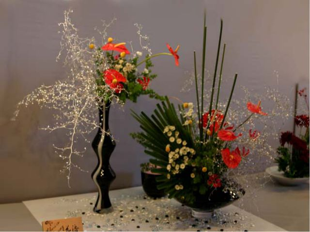 Фото икебаны с искусственных цветов