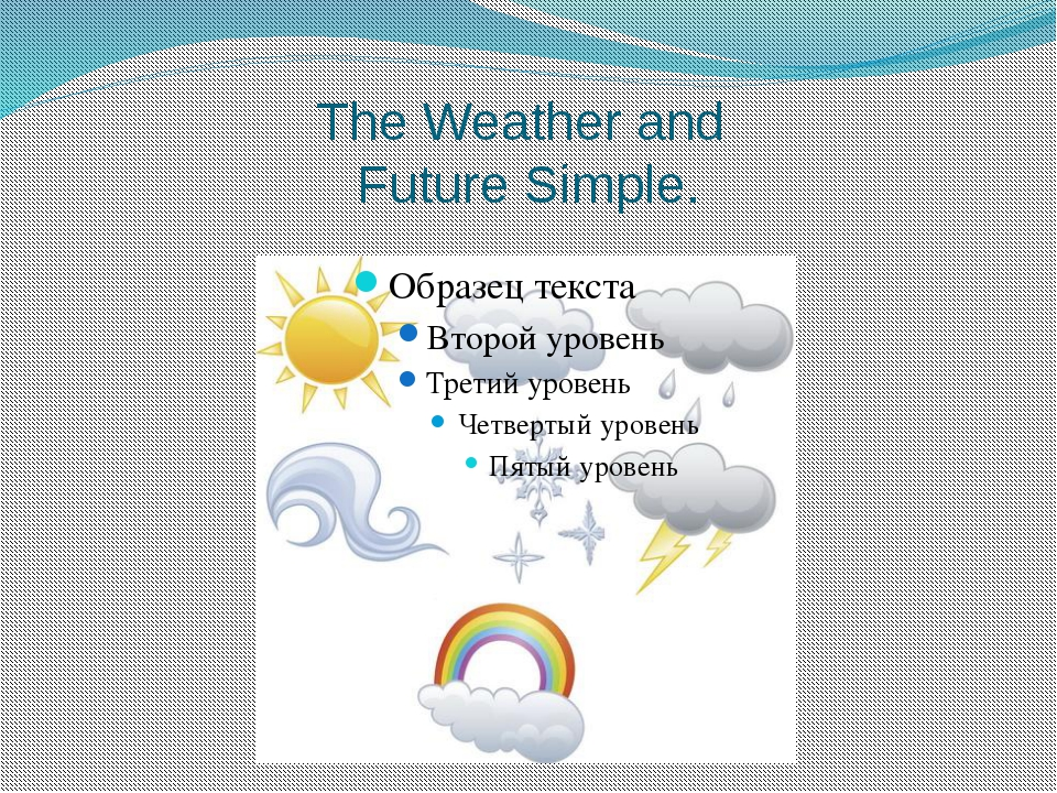 The Weather and Future Simple.
