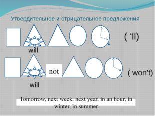 Утвердительное и отрицательное предложения not Tomorrow, next week, next year