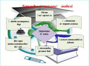 Дарынды оқушының моделі Дарынды оқушы Өзіндік позициясы бар Өз бетімен ақпар