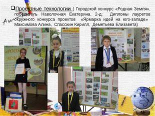 Проектные технологии ( Городской конкурс «Родная Земля», победитель Наволочн
