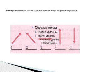 Какому направлению сторон горизонта соответствуют стрелки на рисунке: