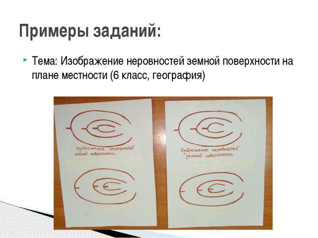 Тема: Изображение неровностей земной поверхности на плане местности (6 класс,...