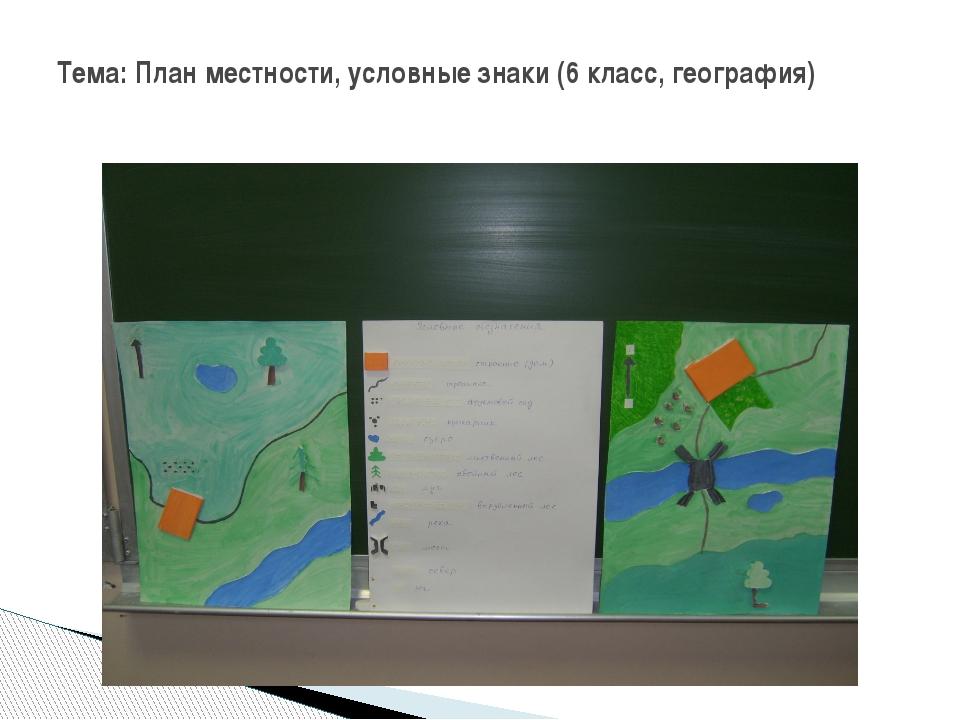 Тема: План местности, условные знаки (6 класс, география)