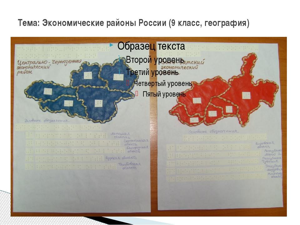Тема: Экономические районы России (9 класс, география)