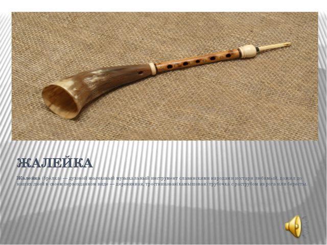 Жалейка (брёлка) — духовой язычковый музыкальный инструмент славянскими народ...