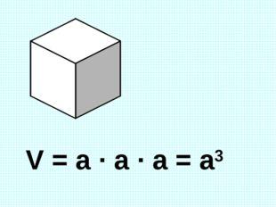 V = a · a · a = a3