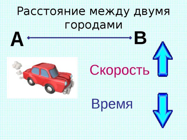 Расстояние между двумя городами Скорость Время А В