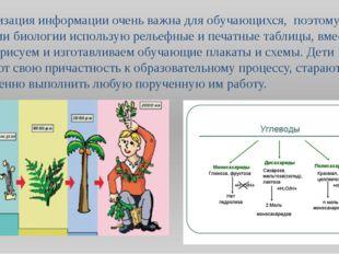 Визуализация информации очень важна для обучающихся, поэтому в обучении биоло