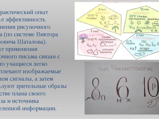 Мой практический опыт показал эффективность применения рисуночного письма (по...