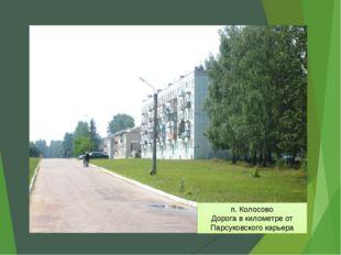 п. Колосово Дорога в километре от Парсуковского карьера
