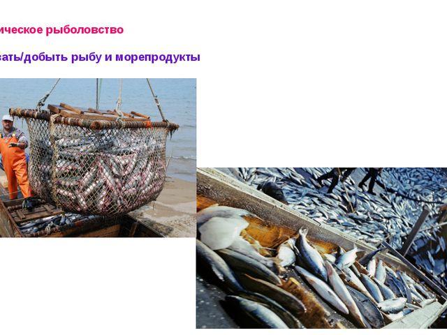Океаническое рыболовство Добывать/добыть рыбу и морепродукты